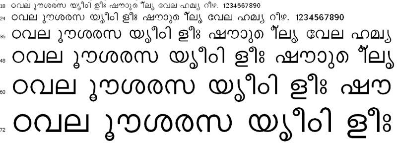 ACHI Normal Malayalam Font