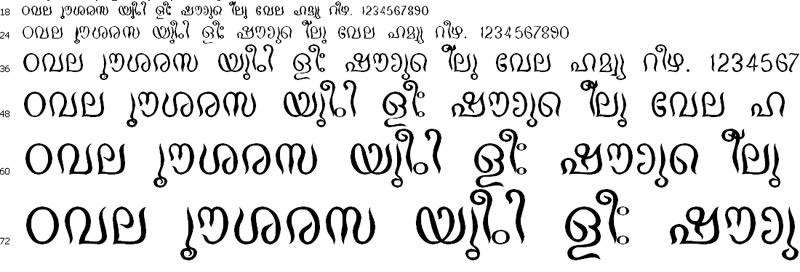 Cham Norm Malayalam Font