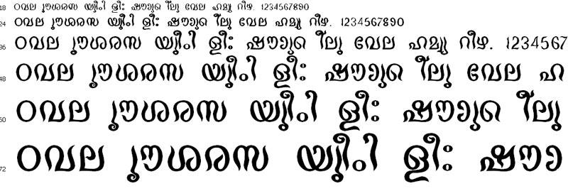 Chamheavy Malayalam Font