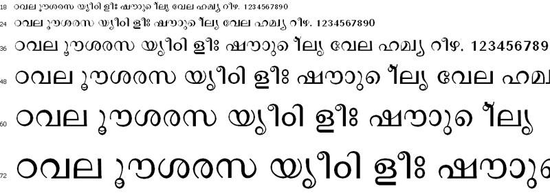 DeepaTB Malayalam Font