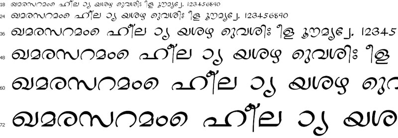 Goodnewsj Roman Malayalam Font