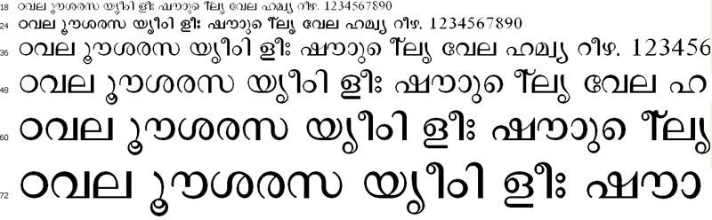 Haritha Malayalam Font