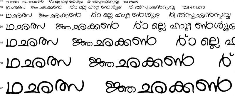 Download Kartika Font - Free Malayalam Unicode Font