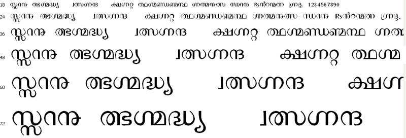 keralaLite Malayalam Font