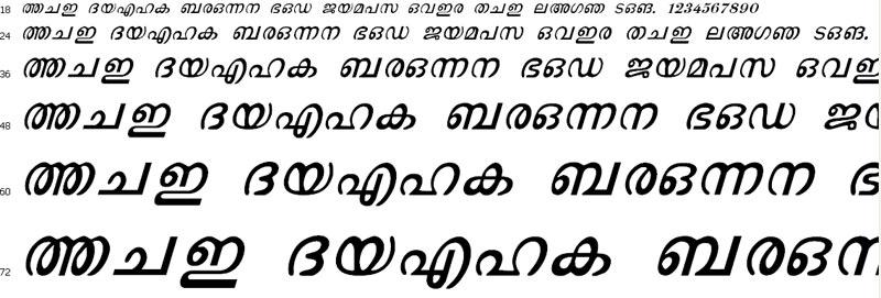 MAL Rooble Italic Malayalam Font