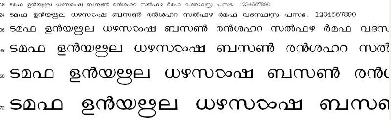 Matweb Malayalam Font