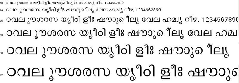 NectarSysMalayalam Malayalam Font