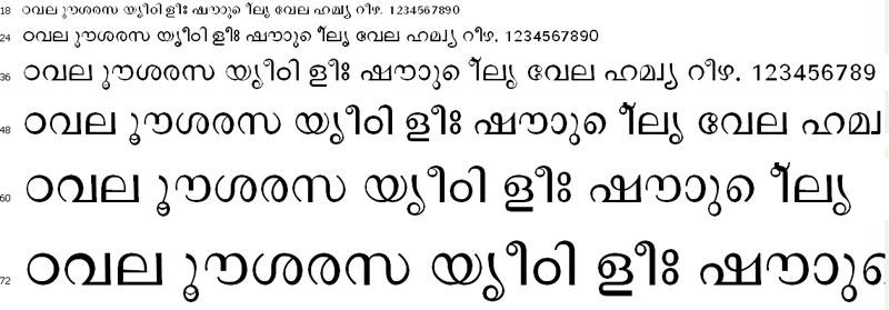 OyeMalayalam Malayalam Font