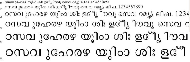 Salma2 Normal Malayalam Font