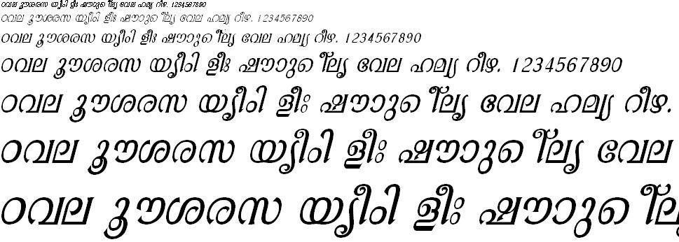 FML-TTAathira Italic Malayalam Font