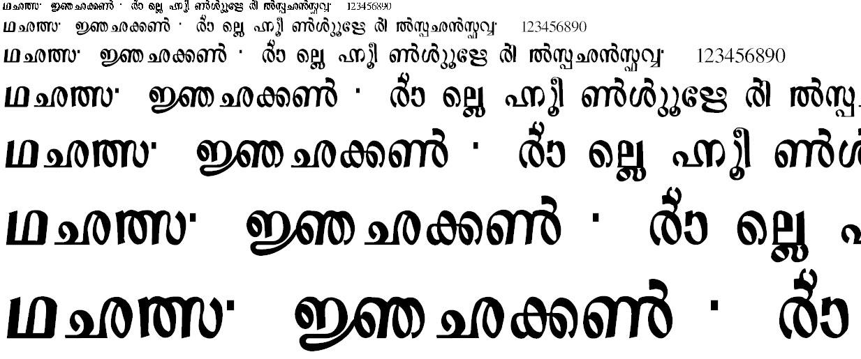 ML_Sre5 Malayalam Font