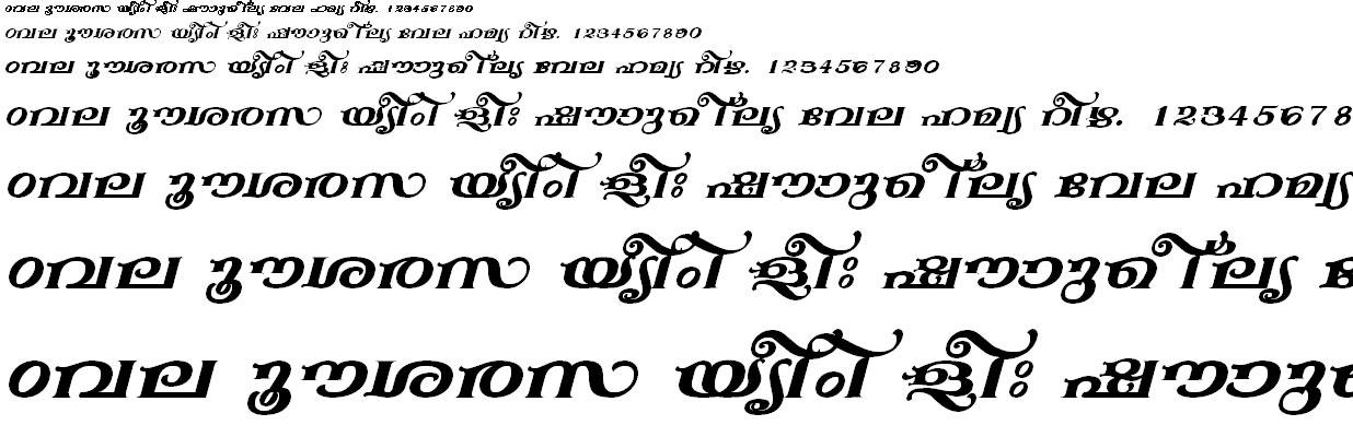 ML_TT_Anakha Bold Italic Malayalam Font