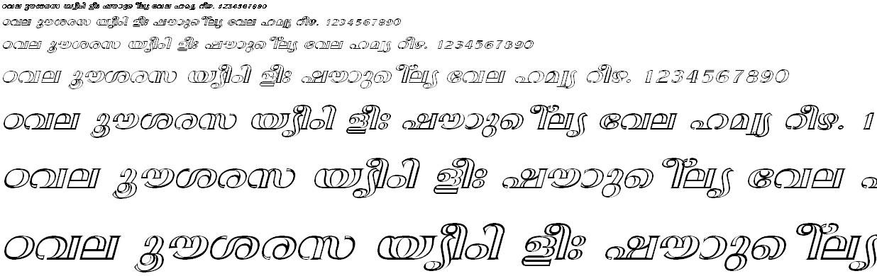 ML_TT_Anjali Bold Italic Malayalam Font