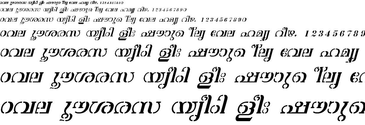 ML_TT_Atchu Italic Malayalam Font