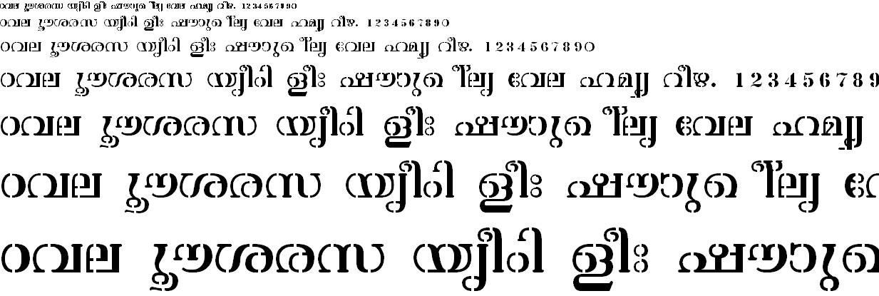 ML_TT_Atchu Normal Malayalam Font