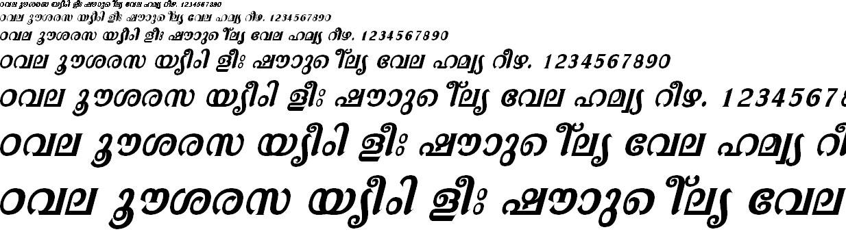 ML_TT_Athira Bold Italic Malayalam Font