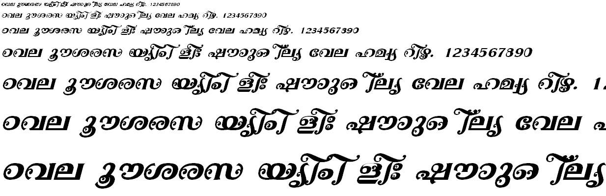 ML_TT_Ayilyam Bold Italic Malayalam Font