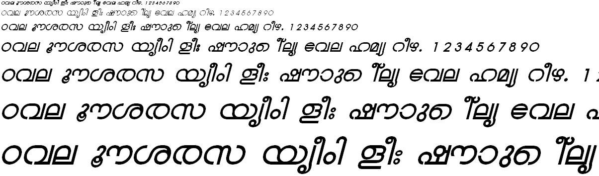 ML_TT_Chandrika Bold Italic Malayalam Font