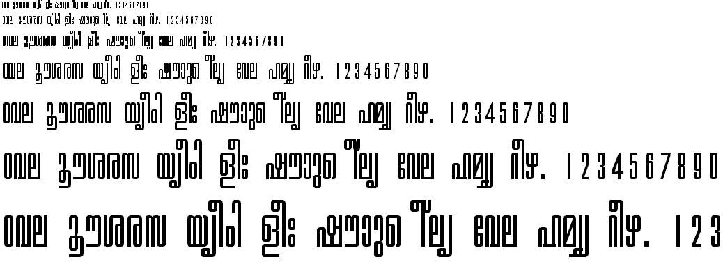 ML TT Revathi Malayalam Font - Free Download From Malayalam ML