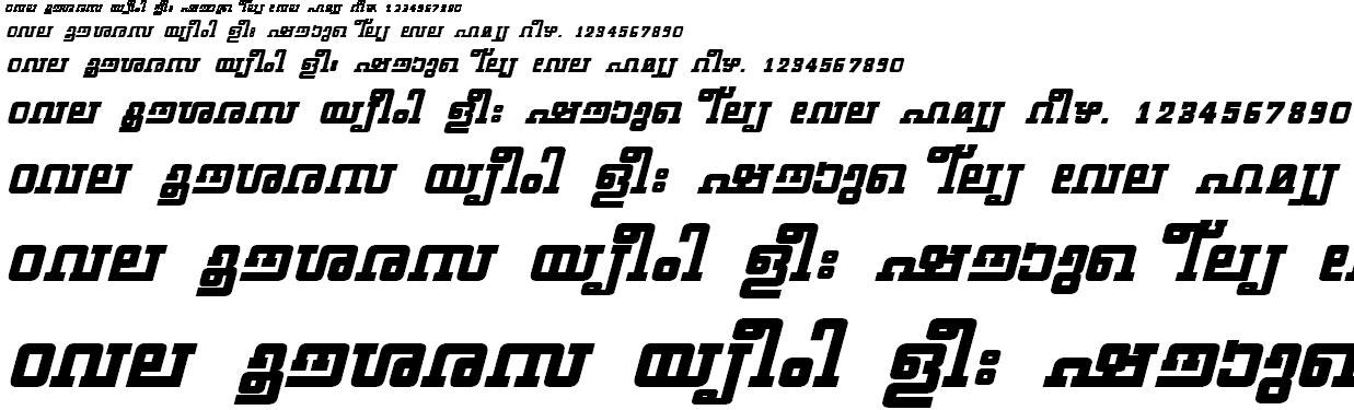 ML_TT_Geethika Bold Italic Malayalam Font