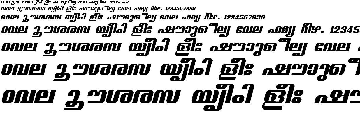 ML_TT_Guruvayur Bold Italic Malayalam Font