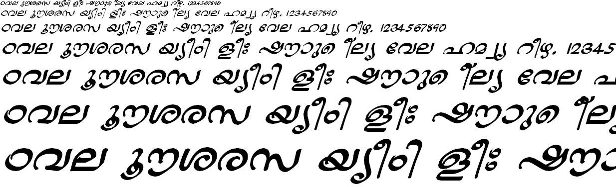 ML_TT_Jaya Bold Italic Malayalam Font