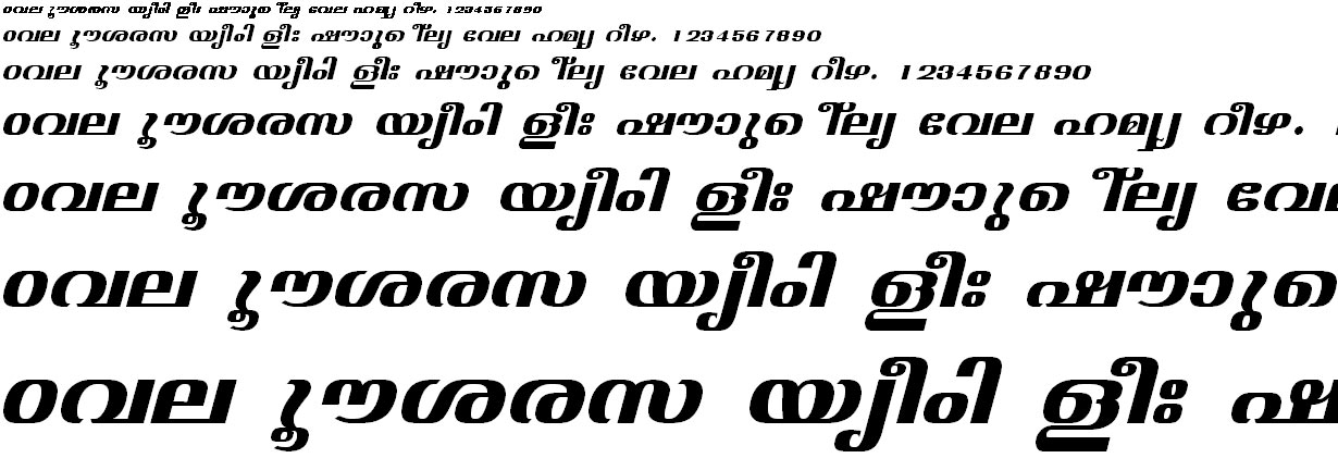 ML_TT_Jyothy Bold Italic Malayalam Font