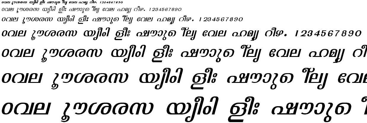 ML_TT_Jyothy Italic Malayalam Font