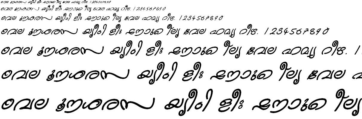ML_TT_Kanika Bold Italic Malayalam Font