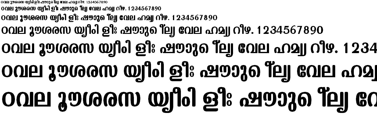 ML_TT_Kaumudi Bold Malayalam Font