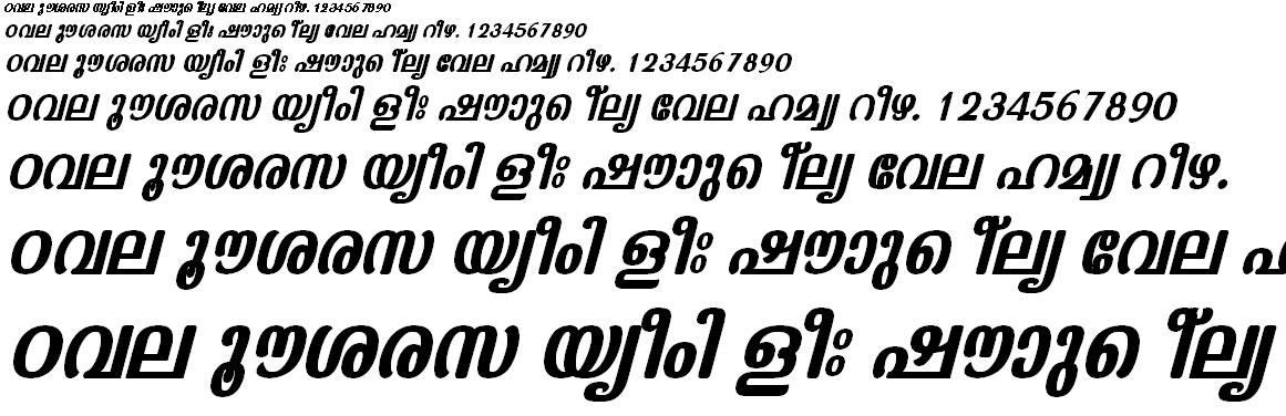 ML_TT_Kaumudi Bold Italic Malayalam Font