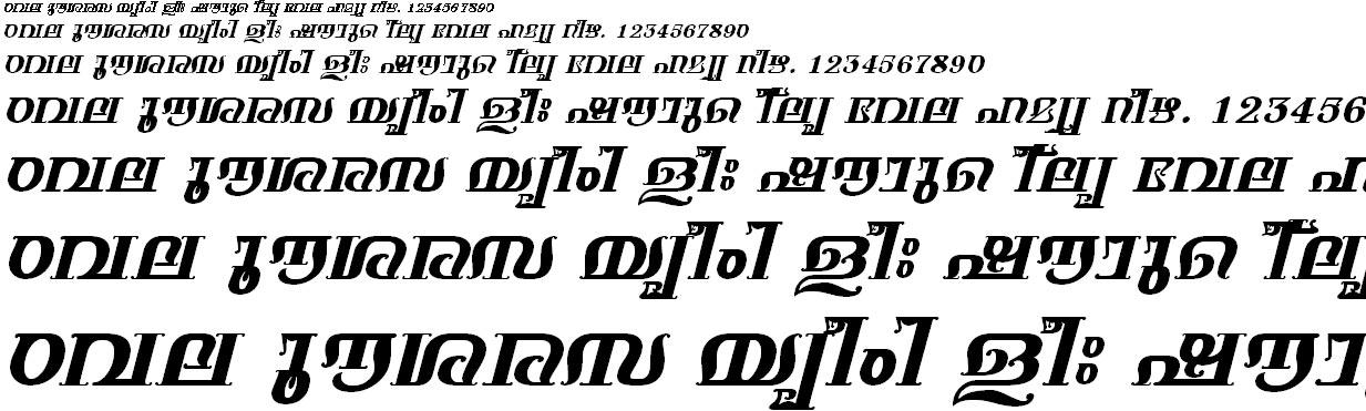 ML_TT_Keerthi Bold Italic Malayalam Font