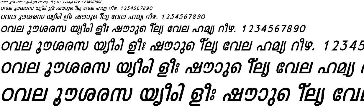 ML_TT_Leela_Bold Italic Malayalam Font