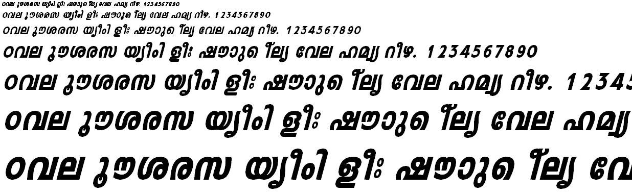ML_TT_Leela Heavy Italic Malayalam Font