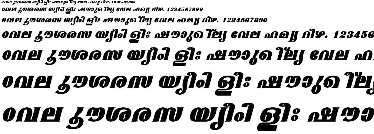 ML_TT_Mangala ExBold Italic Malayalam Font