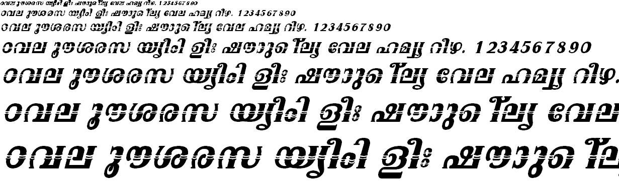 ML_TT_Onam Bold Italic Malayalam Font