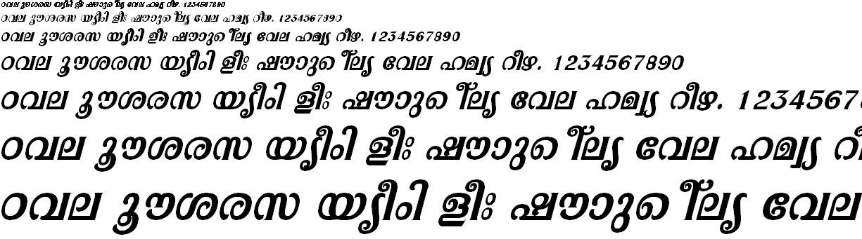ML_TT_Pooram Bold Italic Malayalam Font