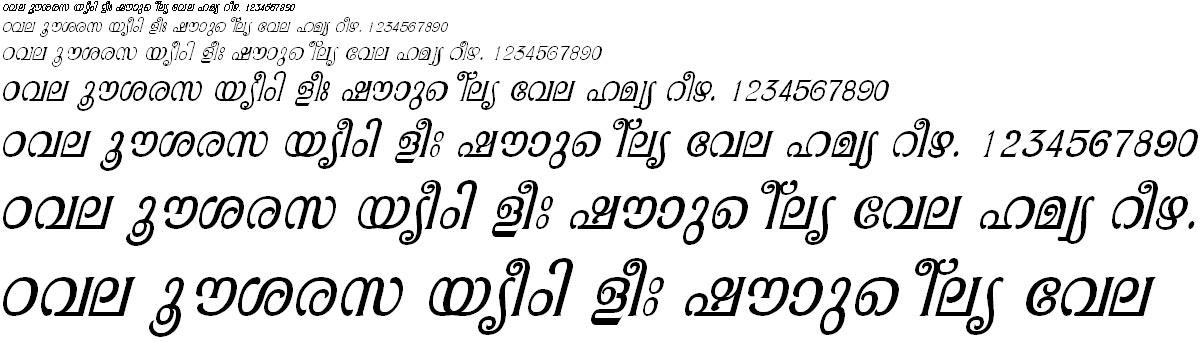 ML_TT_Pooram Italic Malayalam Font
