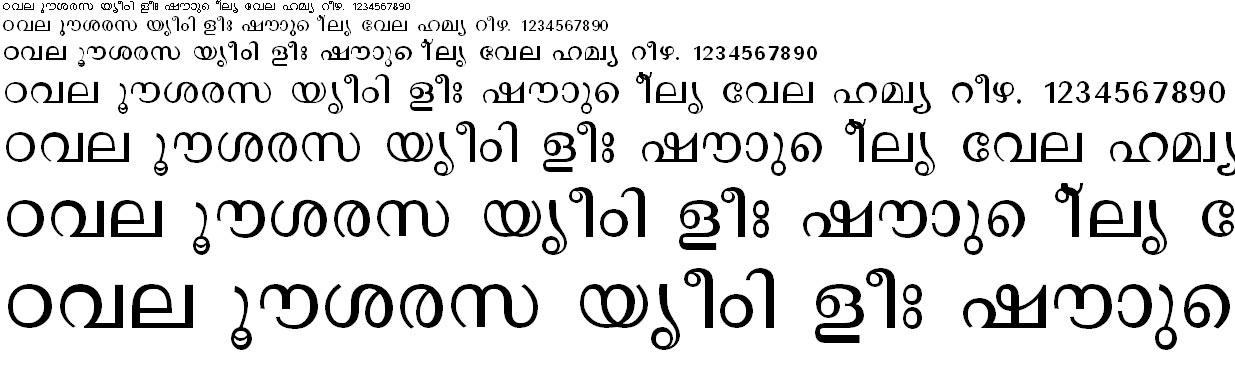 ML_TT_Revathi Malayalam Font