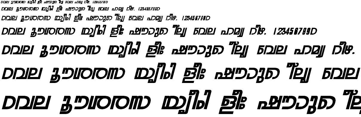 ML_TT_Rohini Bold Italic Malayalam Font