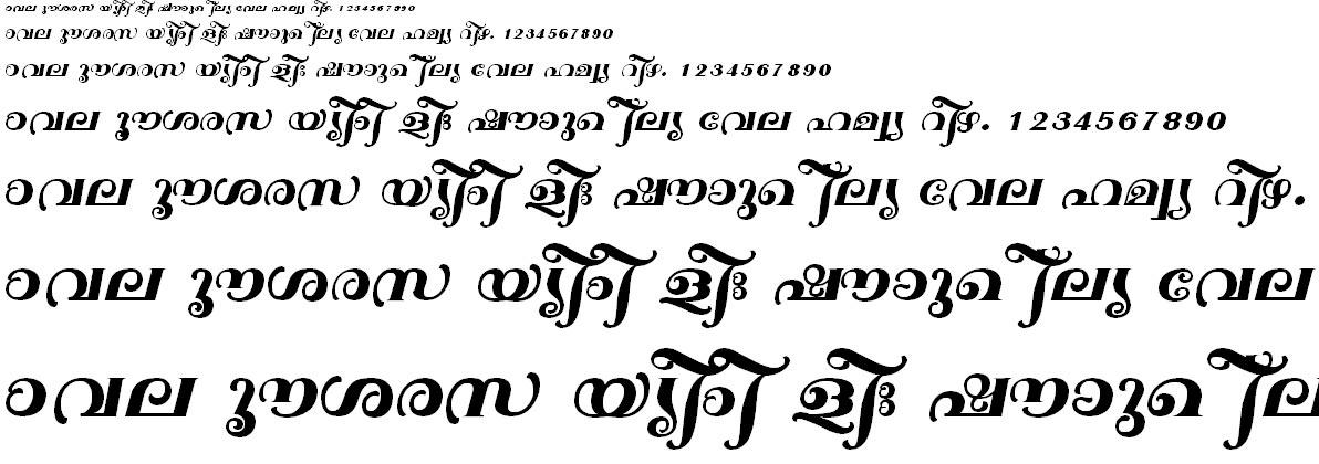 ML_TT_Sarada Bold Malayalam Font