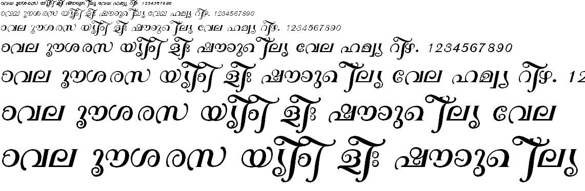 ML_TT_Sarada Normal Malayalam Font