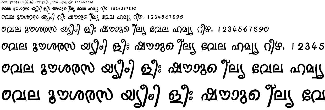 ML_TT_Sruthy Bold Malayalam Font