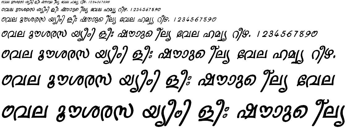 ML_TT_Sruthy Bold Italic Malayalam Font