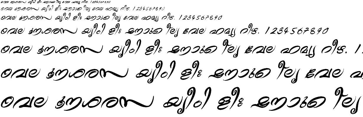 ML_TT_Theyyam Bold Italic Malayalam Font
