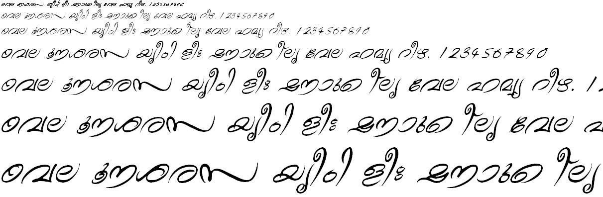 ML_TT_Theyyam Italic Malayalam Font