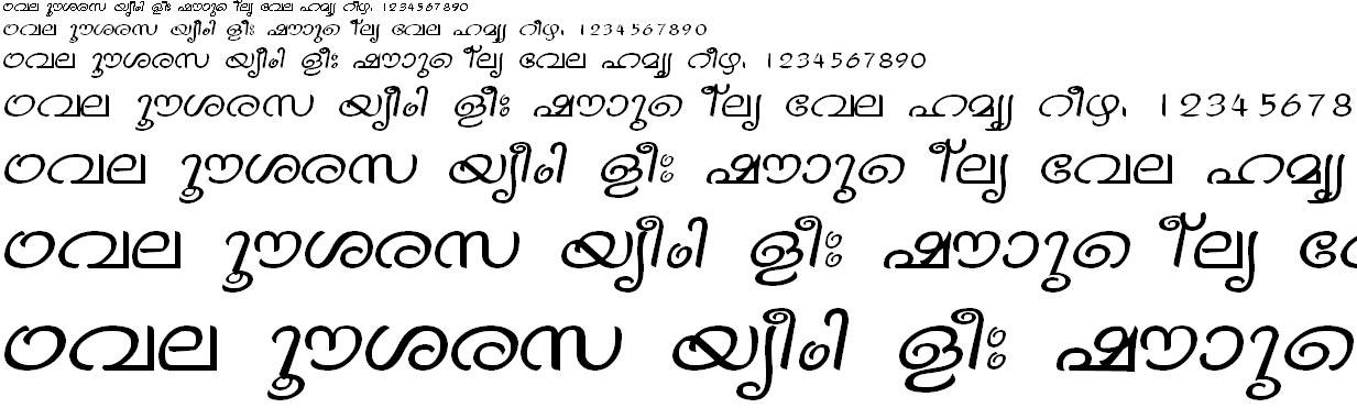 ML_TT_Vinay Normal Malayalam Font