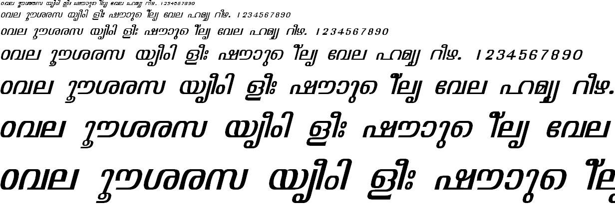 ML_TT_Visakham Italic Malayalam Font