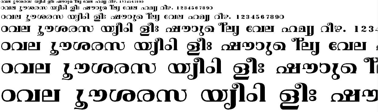 ML_TT_Vishu Bold Malayalam Font