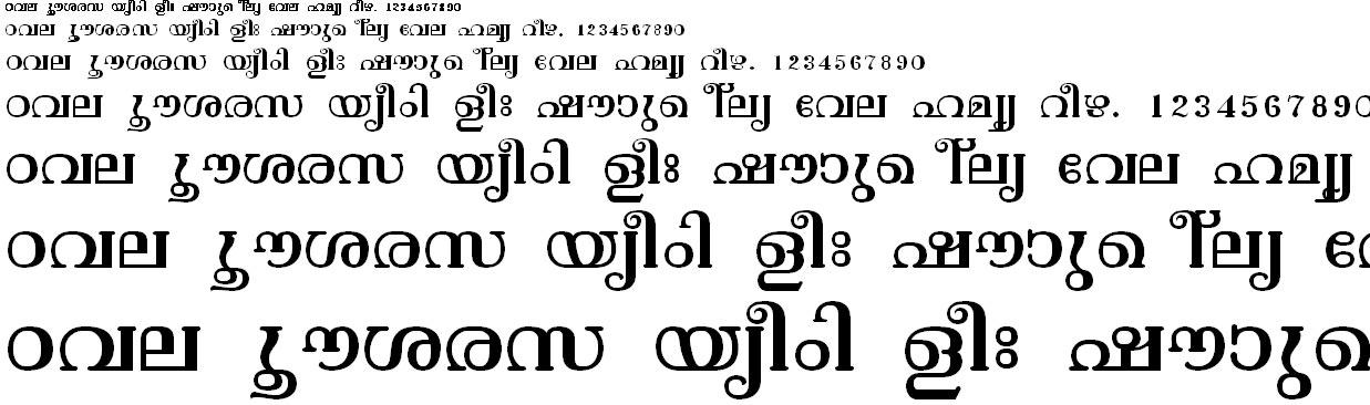 ML_TT_Vishu Normal Malayalam Font